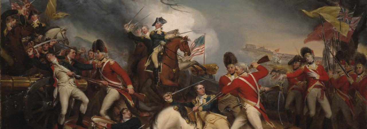 Battle of Princeton - Death of Mercer by Trumbull