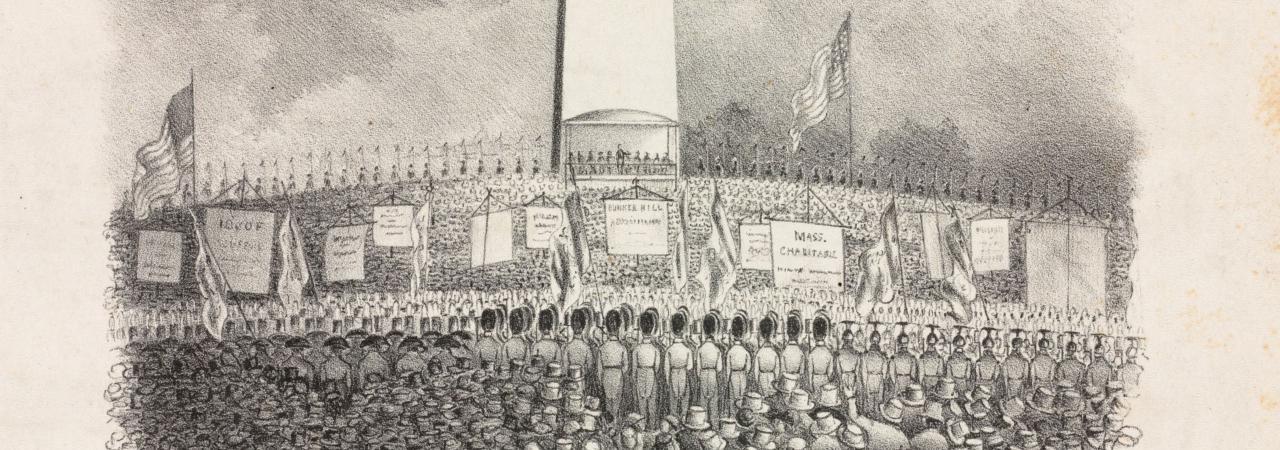 Bunker Hill Monument Dedication Illustration Crop