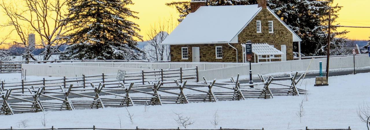 Snow at Lee's Headquarters in Gettysburg