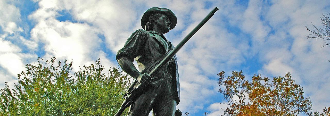 Lexington and Concord Battlefield Hero Landscape