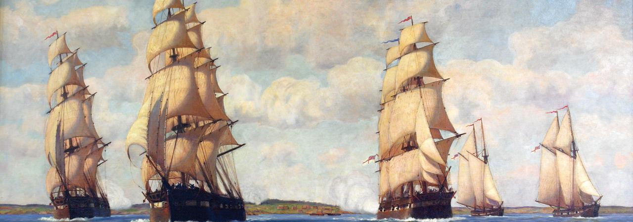 Sackets Harbor Painting by Hiram Peabody Flagg