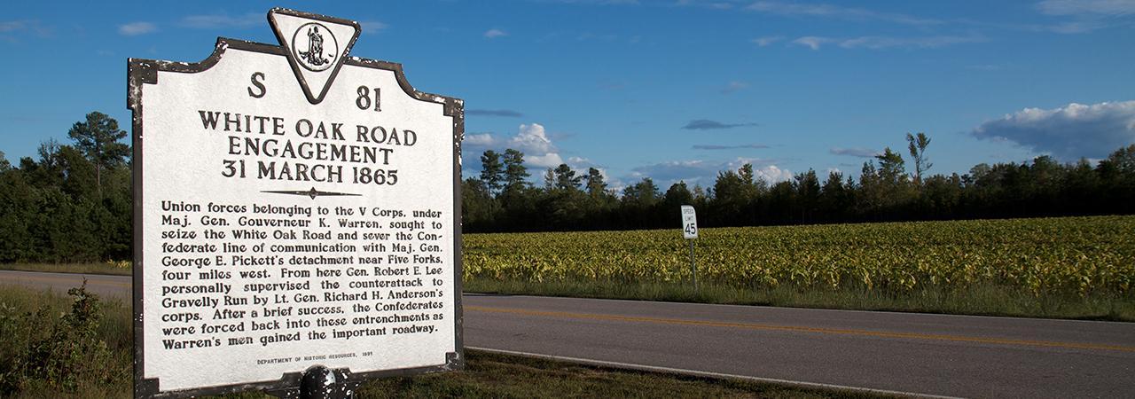 White Oak Road Battlefield