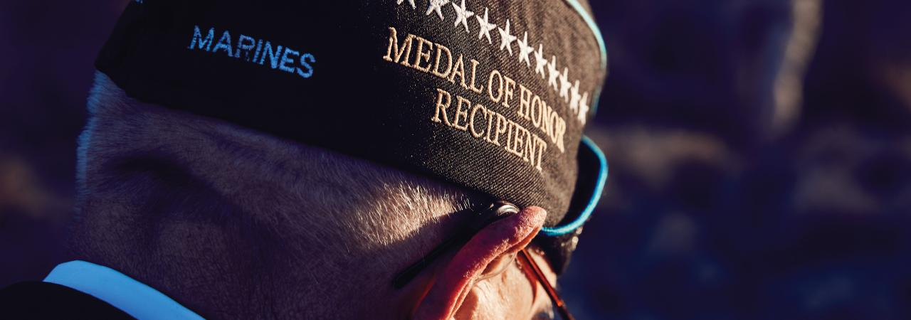 MOH Recipient  Woody Williams Cap Hero