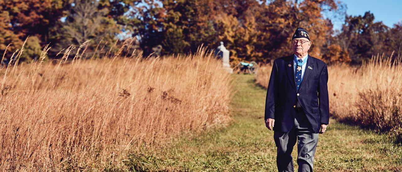 MOH Recipient Hershel Woody Williams at Gettysburg