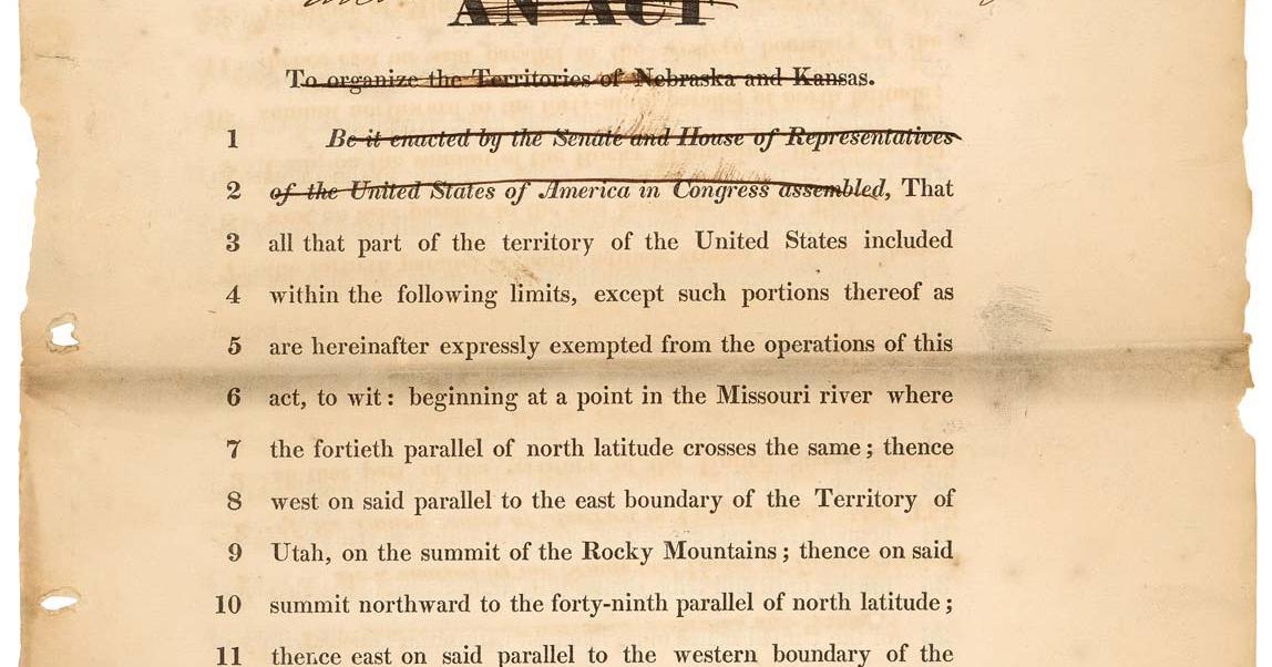 The Kansas Nebraska Act American Battlefield Trust