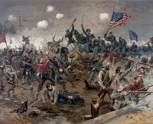Union assault at the Muleshoe salient