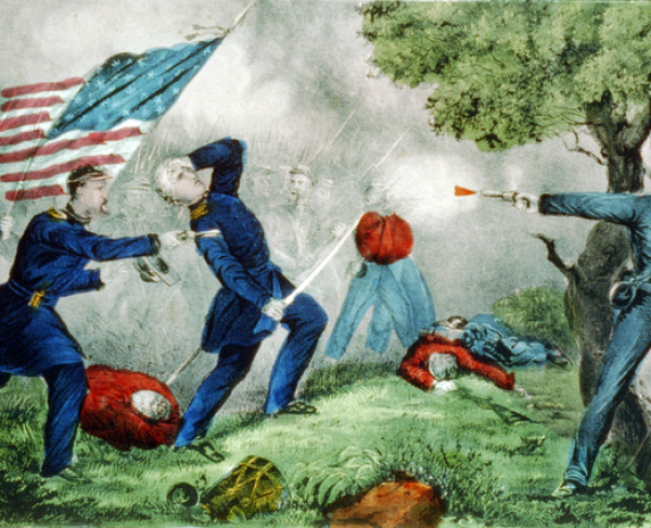 The Wounding of Col. Baker