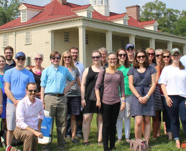The American Battlefield Trust standing a group shot outdoors