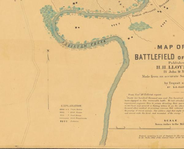 Elliott Map Segment of the battlefield of Antietam