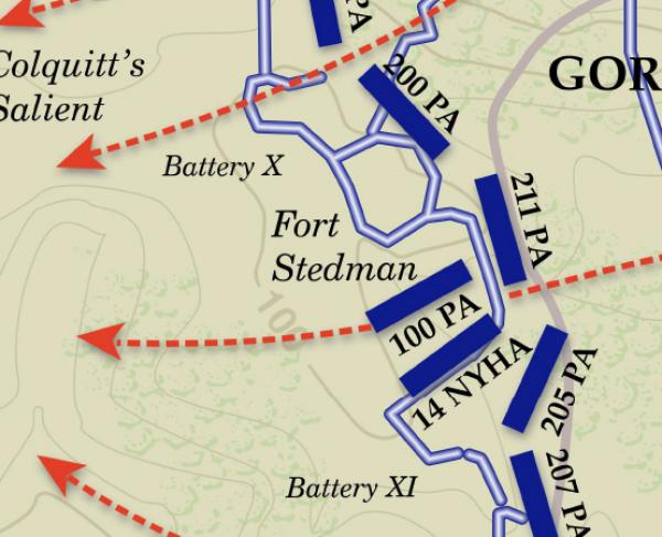 Battle of Fort Stedman - Second Phase