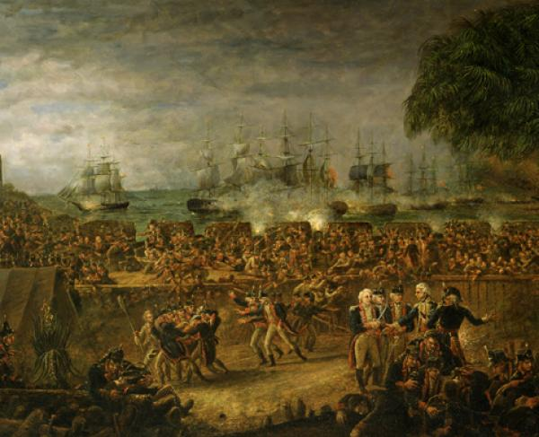 The Battle of Fort Moultrie by John Blake White, 1826