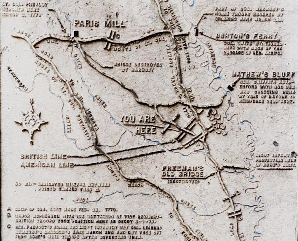 Battle of Brier Creek Map