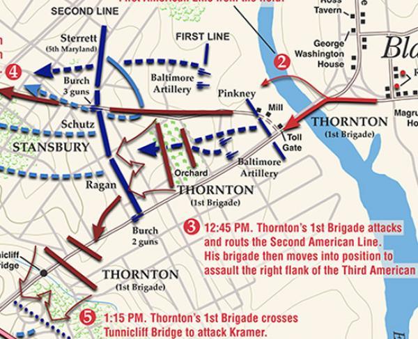 Bladensburg - August 24 1814 Map Landscape Square