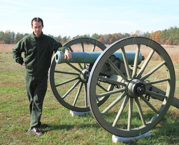 Bobby Krick on the Malvern Hill Battlefield