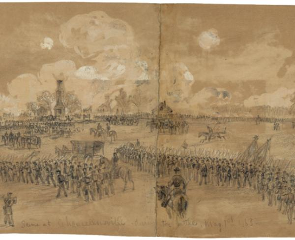 Alfred Waud Chancellorsville