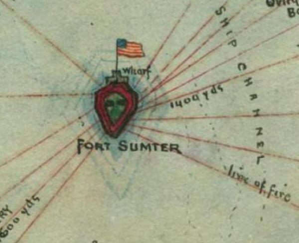 Charleston Harbor S.C. Bombardment of Fort Sumter