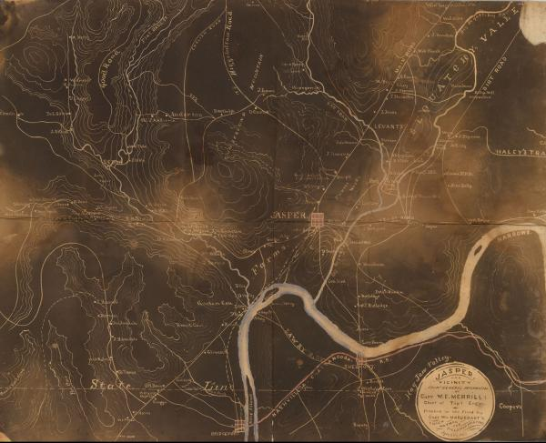 Chattanooga black map reproduction example