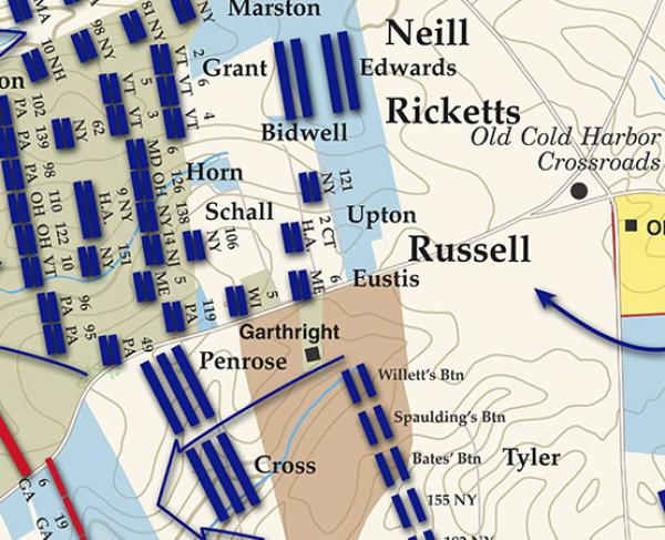 Cold Harbor - June 3, 1864 Battle Map