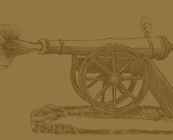 Illustration of a cannon exploding