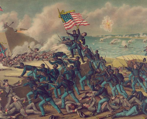 Fort Wagner 54th Massachusetts Painting