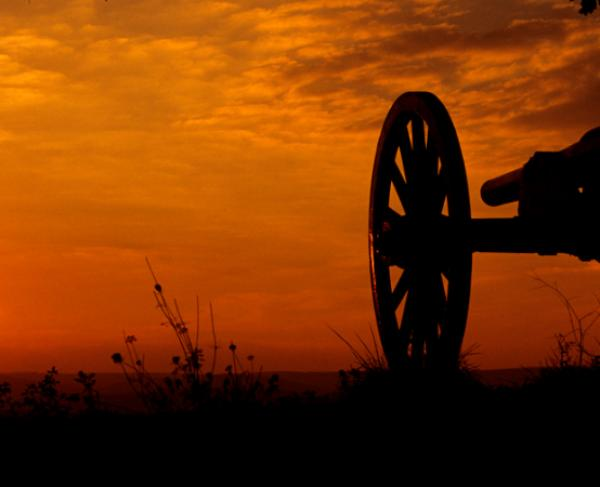 Gettysbirg Cannon Sunset