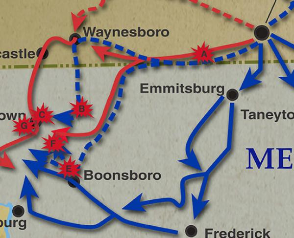 Gettysburg Campaign: July 4 - July 14, 1863 Landscape