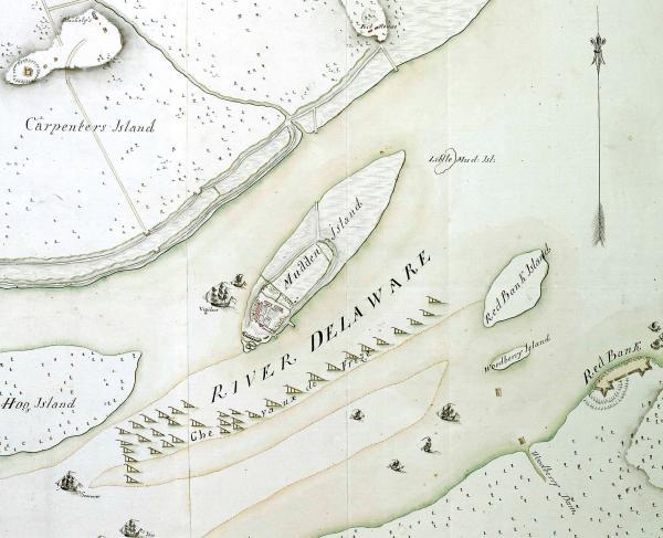 Hessian Map Fort Mifflin