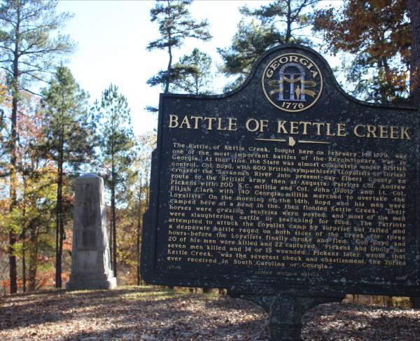 Kettle Creek Battlefield Historic Marker
