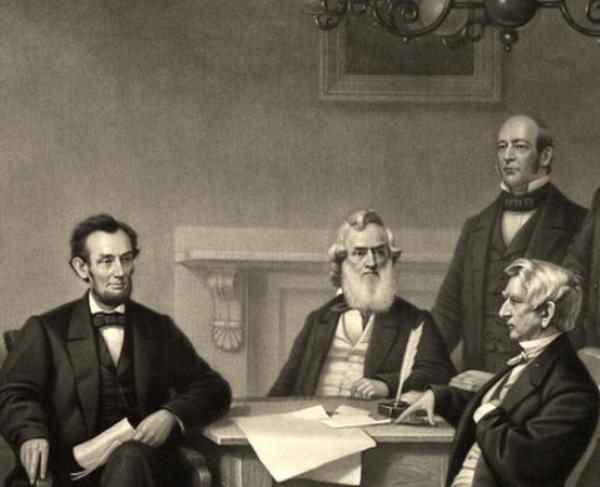 Lincoln with his Cabinet
