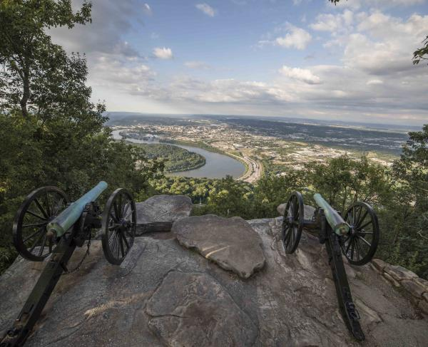 Cannons on top of Lookout Mountain