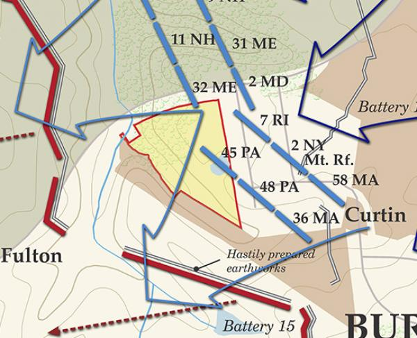 Petersburg - Opening Assaults - June 16, 1864 Battle Map