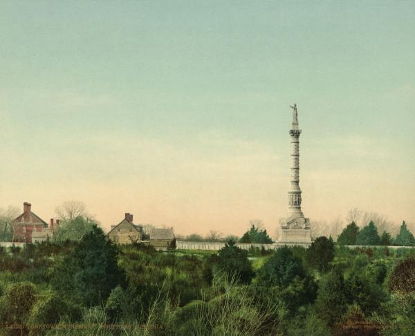 Photochrom Print of the Yorktown Monument, 1902