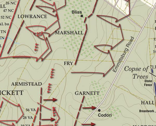 Gettysburg - Pickett's Charge, July 3, 1863 - 3:00 - 3:30PM