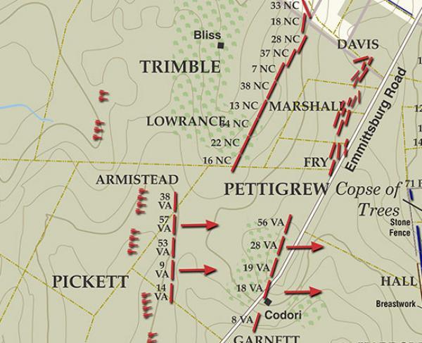 Gettysburg - Pickett's Charge, July 3, 1863 - 3:30 - 3:45PM