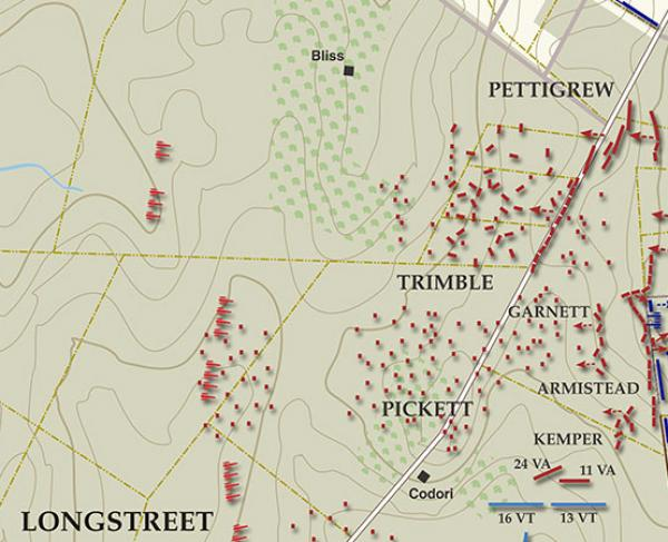 Gettysburg - Pickett's Charge, July 3, 1863 - 3:45 - 4:15PM