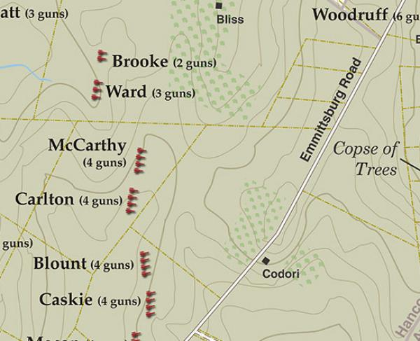 Gettysburg - July 3 1863 - Picketts Charge Artillery Positions