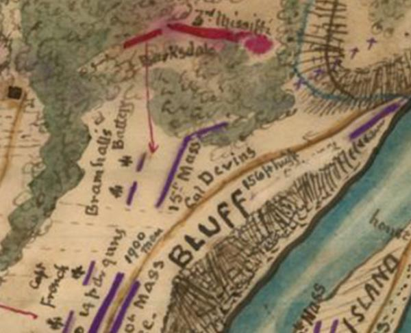 Plan of the Battle of Ball's Bluff Va. Fought October 21st, 1861