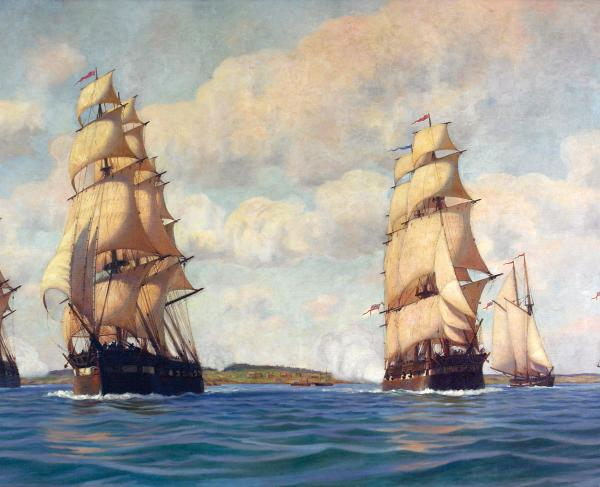 Sackets Harbor Painting by Hiram Peabody Flagg
