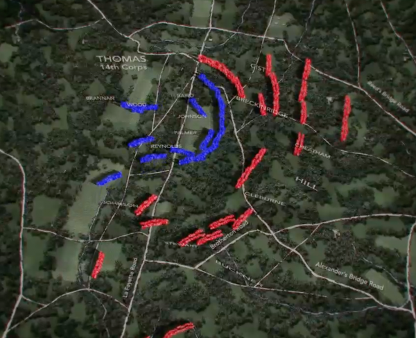 Chickamauga Animated Map Landscape and Square