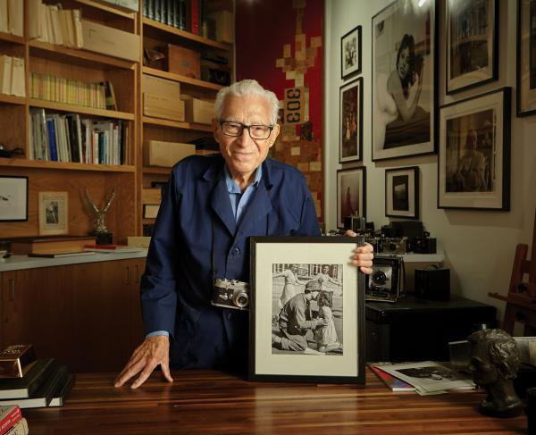 Tony Vaccaro in His Studio in Long Island City, N.Y.