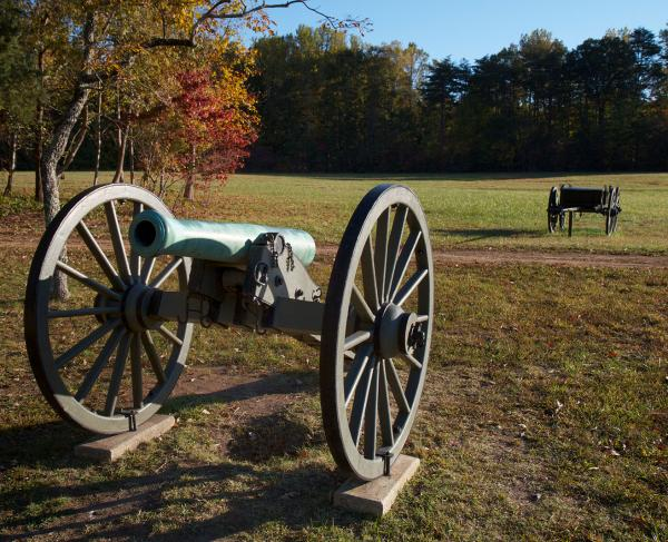 Cannon in Saunders Field