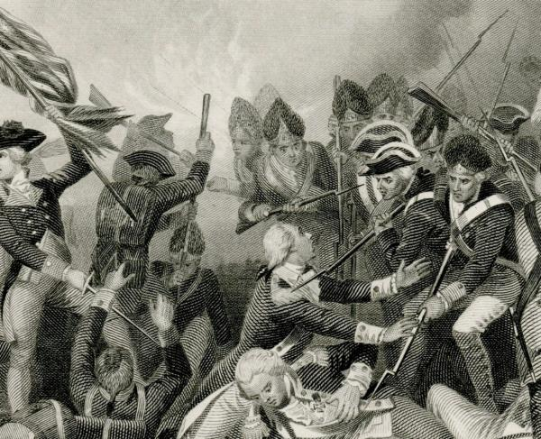 Battle of Camden, Death of de Kalb.