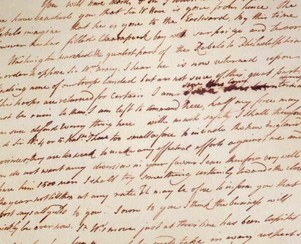 Henry Clinton to John Burgoyne Letter