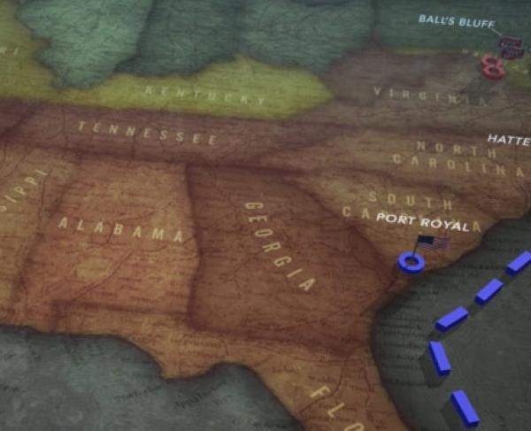The Entire Civil War Animated Map Landscape