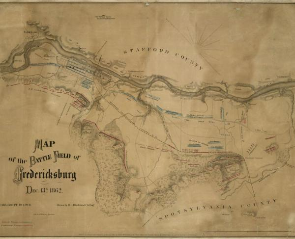 Map of the Battlefield at Fredericksburg