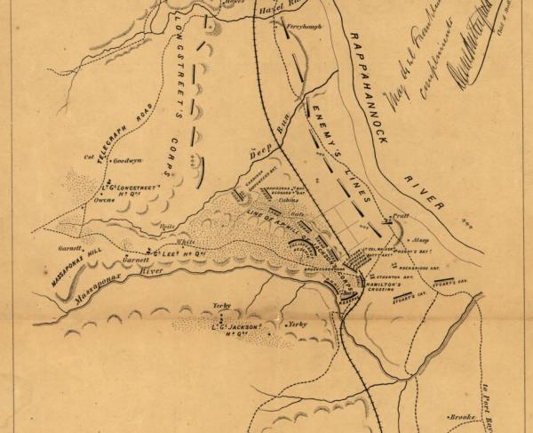 Sketch of the battle of Fredericksburg