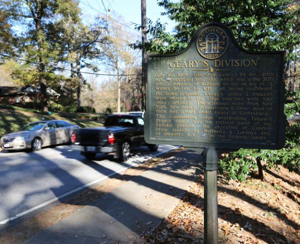 History Marker on Collier Road