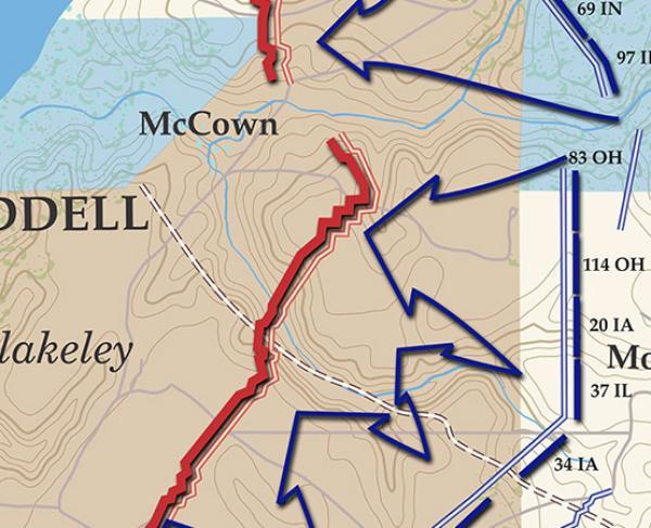 Fort Blakeley - April 9, 1865 Battle Map