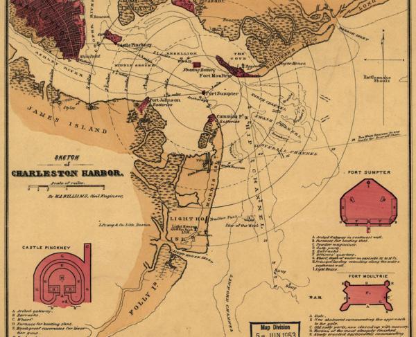 Sketch of Charleston Harbor