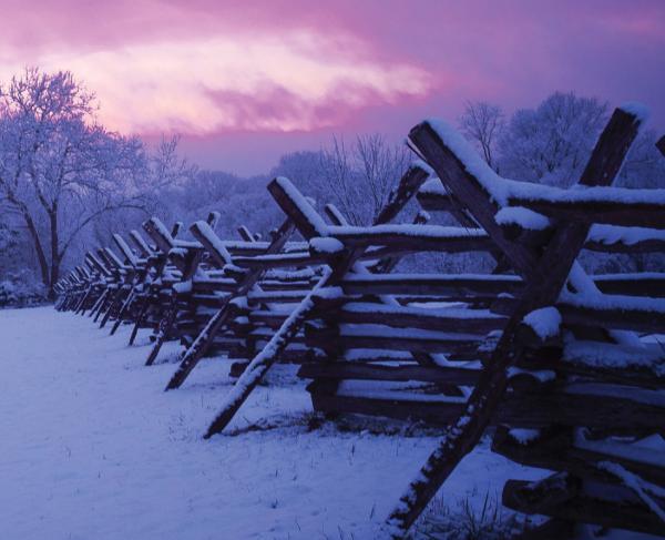Antietam National Battlefield in the snow